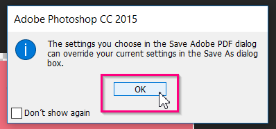 When a pop-up appears, click OK.